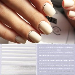 $enCountryForm.capitalKeyWord UK - Gold 3D Nail Sticker Stripe Lines Tape Silver Metal Nails Stickers Adhesive Striping Tape Laser Nail Art Decoration Manicure