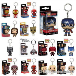 marvel wholesale mini figures NZ - Lucky funko pop toys 14 Designs 5cm marvel avenger Funko Pop action figures PVC key chains Doll with retail box Kids toys gifts