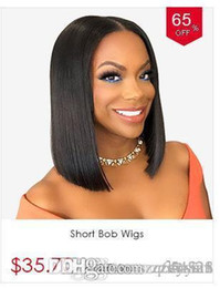 Lace front wigs bobs online shopping - Short Lace Front Human Hair Wigs Brazilian Bob Wig with Pre Plucked Hairline Lace Wig For Black Women Remy Hair Middle Part