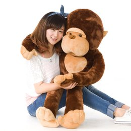 Chinese  Cute Animal Gorilla Plush Toy Doll Giant Long-armed Monkey Hug Monkey Dolls Pillow for Child Toys Birthday Gift manufacturers