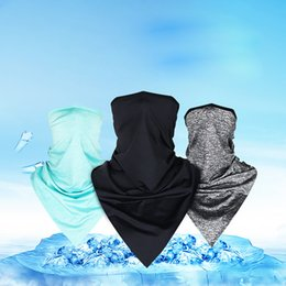 ice face mask NZ - Multifunction Sport Riding Anti-Dust Headscarf Half Face Masks Bandanas Ice Silk Riding Mask Motorcycle Face Shield Outdoor