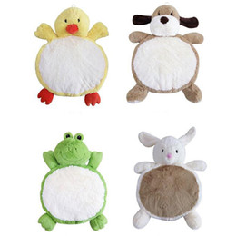 Wholesale Cartoon Plush Stuffed Animals Kids Playing Mats Floor Cushion Game Rugs Crawling Mat Toy Fluffy Rug Carpet for Sleeping Nap cm