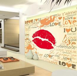 3d angel stickers online shopping - 3d wallpaper custom photo mural wall sticker living room kids room lips angel mouth love KTV painting picture d wall room murals wallpaper