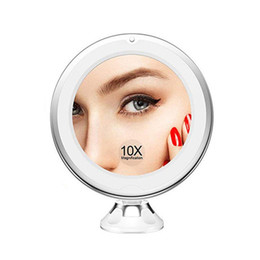 $enCountryForm.capitalKeyWord NZ - New LED Cosmetic Mirror 7X 10X magnifying LED makeup mirror dressing mirror with light with suction cup bathroom DHL FEDEX