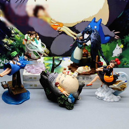 $enCountryForm.capitalKeyWord Australia - 9-13CM 5pcs lot Totoro Spirited Away The Castle in the Sky MIYAZAKI HAYAO Howl's Moving Castle Kiki's Delivery Service figure