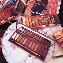 naked makeup 12 Canada - Newest Naked Heat Eyeshadow Makeup Palettes Nude Eye shadow Brand Long Lasting 12 color HEAT De cay Makeup Naked Palettes