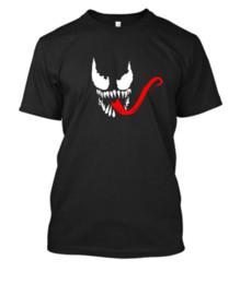 VENOM FACE LOGO Maglietta t-shirt uomo ragno Maglietta nera o bianca Stampa vinilica