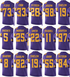 f56fbb85b VIKING Minnesota #19 Adam Thielen #22 Harrison Smith #33 Dalvin Cook #14  Stefon Diggs Men Women Youth Color Rush Elite Football Jerseys