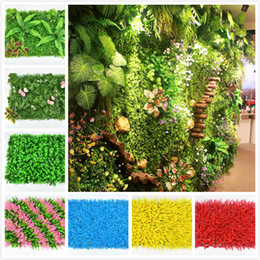 Plastic walls online shopping - Environment artificial lawn colorful artificial turf wall delicate plant wall plastic proof for wedding garden decorations