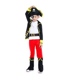 pirates caribbean movie costumes Australia - 2019 new cosplay Caribbean pirate costume Halloween role playing children costume Jack Captain party performance suit