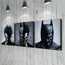 Batman Art Joker Australia - Joker,Batman -1,3 Pieces Canvas Prints Wall Art Oil Painting Home Decor (Unframed Framed) 20x20x3.