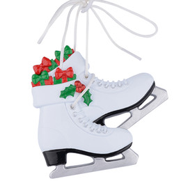 christmas gift shoes Australia - Girl Ice Skating Shoes Polyresin Glossy Personalized Christmas Tree Ornaments Free Write Name Personalized Gifts Christmas Gift