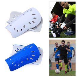 Wholesale Soccer Gears Australia - 1 Pair Soft Light Football Shin Pads Soccer Guards Supporters Sports Leg Protector For Kids Adult Protective Gear Shin Guard