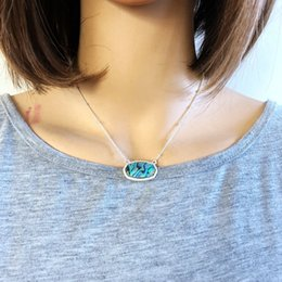 Necklaces Pendants Australia - Fashion Abalone Shell Geometric Hexagon Necklace Silver Gold Plated Pendant Necklace Kendra Scott Jewelry For Women
