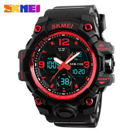 Analog Double Digital Sports Watch Australia - SKMEI top brand sports watch outdoor sports men's military digital watch 5Bar waterproof double display fashion watch Relogio Masculino 1155