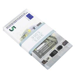 Опт поддельные 5 евро банкноты реалистичные игровые деньги, которые выглядят реальными, двусторонние притворные игровые опоры