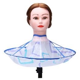 $enCountryForm.capitalKeyWord Australia - 1pcs Foldable Hair Cutting Cloak Umbrella Cape Salon Waterproof Wrap for Salon Special Hair Styling Accessories