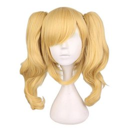 $enCountryForm.capitalKeyWord UK - Long Wavy Cosplay Mixed Blonde Wig With 2 Ponytails Synthetic Hair Wigs