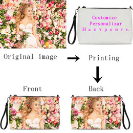 Zip Clutches Australia - VEEVANV Customized Your Image Name Logo Women Daily Zip Pouch Fashion Soft Leater Crossbody Bags Handbags Clutch Bag Sac A Main