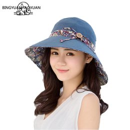 68dd9ec31dad4 Wholesale Sombrero Hats Australia - BINGYUANHAOXUANHats For Women Wide Wide Sun  sombrero hombre uv Beach Hat