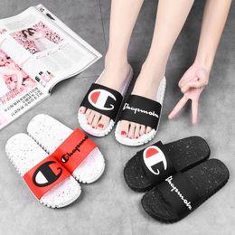 $enCountryForm.capitalKeyWord UK - Champion Mens Luxury Designer Sandals Summer Slippers Brand Slides Slip On Sandals Women Mules Flip Flops Flat Sandal Beach Shoes A72501