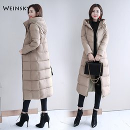 Down parka 5xl online shopping - 2019 New Fashion Women Winter Hooded Coat Long Slim Warm Jacket Down Cotton Padded Jacket Outwear Elegant Parkas