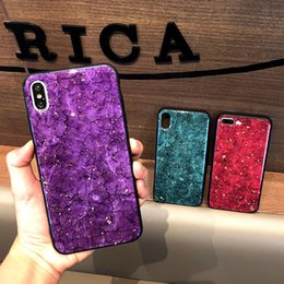 Discount iphone pattern Designer Luxury Glitter Marble Pattern Cellphone Case for iPhone XS Max XR X 8 7 6 Plus TPU Back Cover Protective