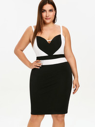 $enCountryForm.capitalKeyWord UK - Wipalo Women Plus Size Spaghetti Belts Bodycon Dress Two Tone Lazy Dress Ladies Elegant Formal Party Vestidos Robe Femme Y19071001
