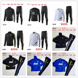 Boys tracksuits sets online shopping - 2019 kids PSG soccer training suit man utd Paris child Survetement maillot de foot Real Madrid sportswear set football tracksuit