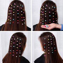 braid hair accessories Australia - 40pcs Mini Hair Claw Clips For Women Girls Cute Candy Colors Plastic Hairpins Hair Braids Maker Beads Headwear Hair Accessories