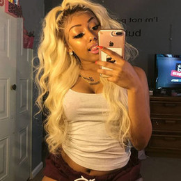 Dark roots wig online shopping - Dark Roots Body Wave inches Blonde Wig Glueless Synthetic Lace Front Wig With Baby Hair Heat Resistant Ombre Wigs For Black women