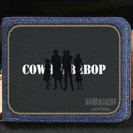 $enCountryForm.capitalKeyWord Australia - Cowboy Bebop wallet Space cow boy purse Bounty Hunters anime short cash note case Money notecase Leather jean burse bag Card holders