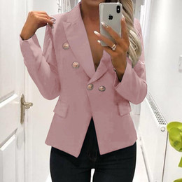 $enCountryForm.capitalKeyWord NZ - Femininos Cardigan Office Blazers Women Fashion Blazers Buttons OL Business Suits Outfit Winter Solid Outerwear Workwear M0371