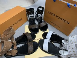$enCountryForm.capitalKeyWord NZ - 2018 Fashion Women's sandals slippers for women WITH BOX Hot Luxury Designer flower printed unisex beach flip flops slipper BEST QUALIT