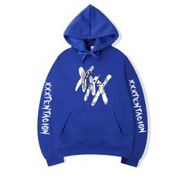 China Fashion Hoodie Men Casual Hip Hop XXXTentacion Black Gray Sweatshirt Fleece Pullover Hoody Plus Size S-3XL cheap long plus size fleece suppliers