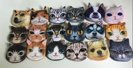 $enCountryForm.capitalKeyWord Australia - 3d Animals Cat Coin Bag Purse Dogs Plush Coin Bags Wallet Pouch Small Handbag Bolsa De Moeda Monedero Gato