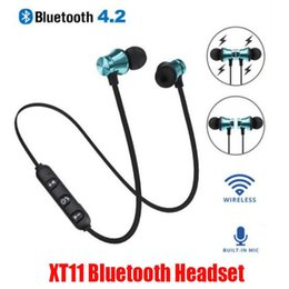 sport mp3 earphone bluetooth Australia - New XT11 Bluetooth Headphones Magnetic Wireless Running Sport Earphones Headset BT 4.2 Mic MP3 Earbud For LG Smartphones With Retail Box