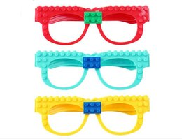 $enCountryForm.capitalKeyWord UK - DHL ship Building Blocks Of Glasses Baseplate Frame Friends Police City DIY Toy Glasses Bricks Kid Gift toy opp bag