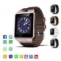 acc01eea5c29 DZ09 Relojes inteligentes Reloj deportivo con cámara Cámara inteligente  Reloj inteligente para Android Ios Iphone 7 8 Plus XS XR XS Max Smartwatch
