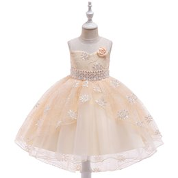 China Newly Ballgown Hi-Lo Lace Communion Dresses Girl's Pageant Dresses First Communion Dress For Little Girl in Stock suppliers