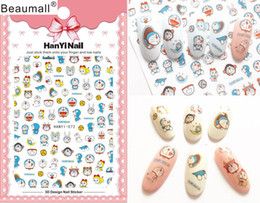 patterned nail tips Australia - Cartoon Patterns! Nails Art Manicure Back Glue Decal Decorations Design Nail Sticker For Nails Tips Beauty