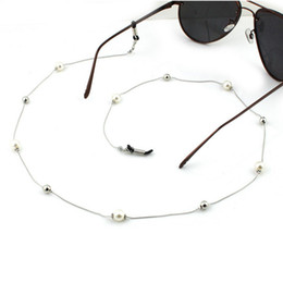 $enCountryForm.capitalKeyWord Australia - Pearl Beaded Chain Eyeglass Holder Spectacle Sunglass Cord Eyeglasses Rope Necklace White Pearls Glasses Holder Necklaces