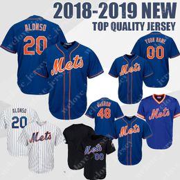 ac5df6073d6 Custom New York 20 Pete Alonso Mets 18 Darryl Strawberry Men s baseball  jerseys 16 Dwight Gooden 34 Syndergaard 2019 NEW