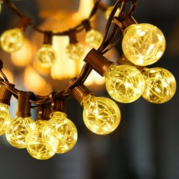 outdoor patio string lights globe UK - Outdoor Lighting Patio Party Globe Ball String Lights Bulbs Set 25 RGB LED US