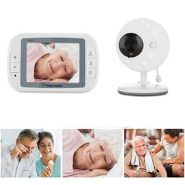wireless cameras Australia - 3.5 Inch Wireless Digital Baby Monitor Night Vision Care Built Music Lithium Temperature Display 2-Way Talk with Camera