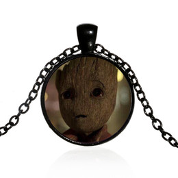 $enCountryForm.capitalKeyWord Australia - Foreign trade new film and television accessories Galaxy Guard Groot tree baby Gruitt pattern pendant necklace Creative glass alloy necklace
