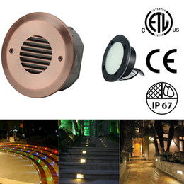 $enCountryForm.capitalKeyWord NZ - Waterproof Step Lights LED Stairs Path Deck Light Outdoor Wall Lamps Underground Lamps 2.5W 100-240V AC 12-24V DC