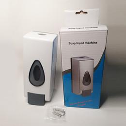 Sanitizer Distributeurs 600ML Touchless désinfection des mains machine Distributeur de savon mural Poussez Mist Vaporisateur Désinfectant pour les mains en Solde
