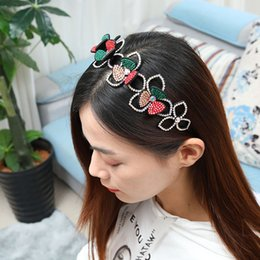 import fashion jewelry UK - the new hair band imported Australian drill fashion diamond headdress flower hair accessories Korean jewelry band