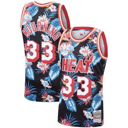 $enCountryForm.capitalKeyWord UK - 2019 Fashion Floral Black Swingman Jersey Retro Mens 33 Alonzo Mourning 1996-97 Mitchell & Ness Authentic Basketball Jersey Dense Embroidery